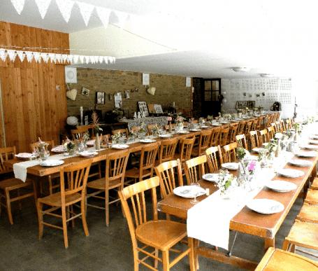 banquet mariage champêtre ambiance rétro chic événements familiaux