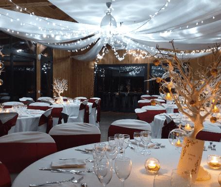 décoration salle de mariage rennes ciel de leds guirlandes lumineuses